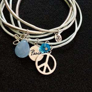 Bracelets with peace pendants and crystals for Sale in Philadelphia, PA