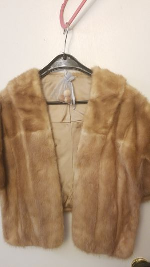 Real Fur Poncho fits Size S -M in beautiful honey color for Sale in Alexandria, VA