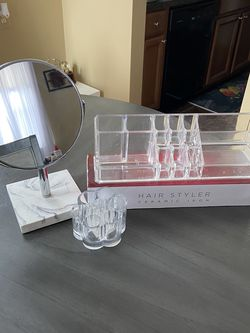 Makeup Mirror, Makeup Storage, and hair Straightener for Sale in Waterford Township,  MI
