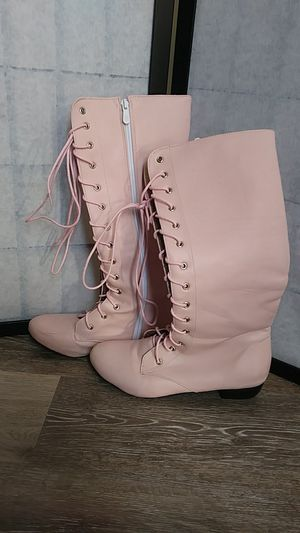 Pink knee high boots 8 to 81/2 for Sale in Wheat Ridge, CO