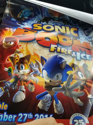 Sonic the Hedgehog poster for Sale in Colton, CA