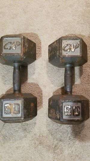 Two 60 pound dumbbells for Sale in San Diego, CA