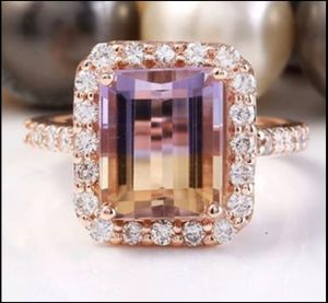 New Gold Plated Ametrine Wedding Engagement Ring for Sale in Carmichael, CA