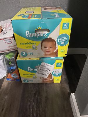 2 boxes Size 2 Pampers 186 count for Sale in Gig Harbor, WA