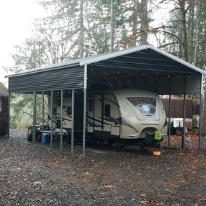 Strongest vert roof 20x35x12 rv or boat carport cover for Sale in Chehalis, WA