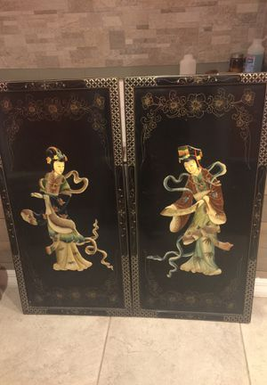 Asian wall hangings 18x36 each piece for Sale in Malabar, FL