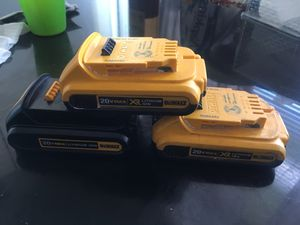 dewalt charger and battery s for Sale in San Francisco, CA