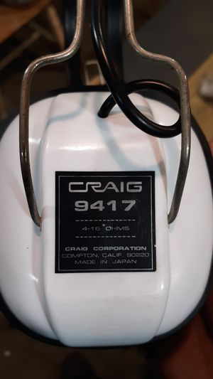 Craig 9417 head phones like new for Sale in Greeneville, TN