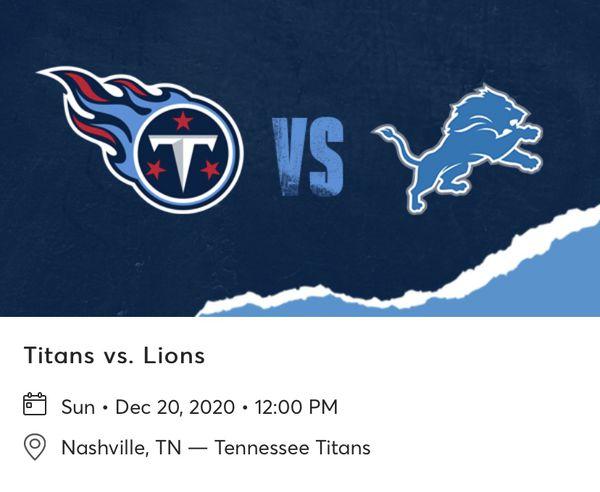Titans Vs Lions