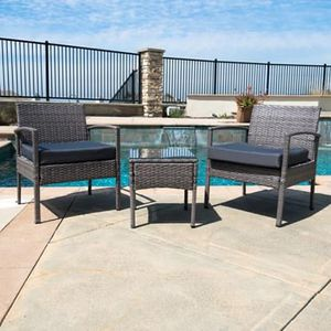 SHIPPING ONLY 4 Piece Patio Furniture Set for Outdoor Areas w/Chairs Table and Cushions for Sale in Las Vegas, NV
