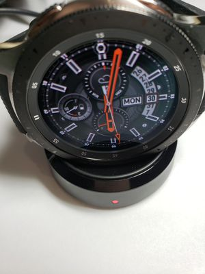 Samsung Galaxy Watch SM-R805U LTE 46mm Silver Case Classic Onyx Black for Sale in Englishtown, NJ