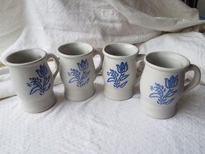 4 Pfaltzgraff Yorketowne anniversary mugs for Sale in Cumming, GA