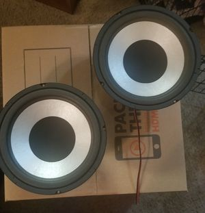 "Pair of 10"" Speakers Pulled from Aiwa Cabinets, 4 Ohms 75 Watts, in good working order, $20 Obo for Sale in Houston, TX"