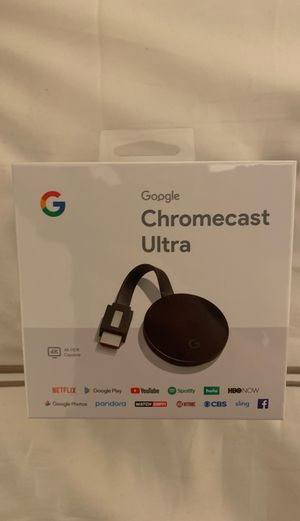 Google Chromecast Ultra 4K HDR (top of the line) (NEW/UNOPENED) for Sale in Los Angeles, CA