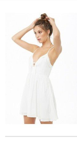White Lace Up Skater Dress for Sale in Orlando, FL