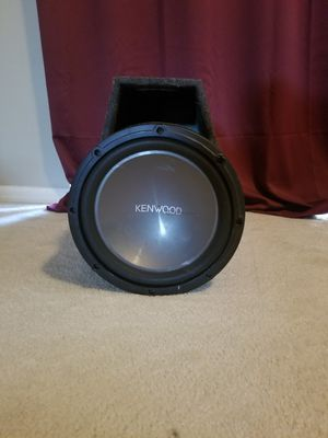 1200w 12 inch kenwood subwoofer with ported box for Sale in Tampa, FL