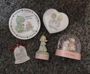 Precious moments ornament, snow globe, trinket box for Sale in Cherry Hill, NJ
