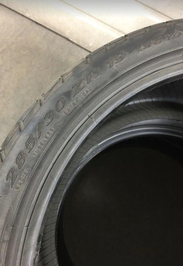 NEW 285 30 19 Pirelli P-ZERO Corsa tires (2)