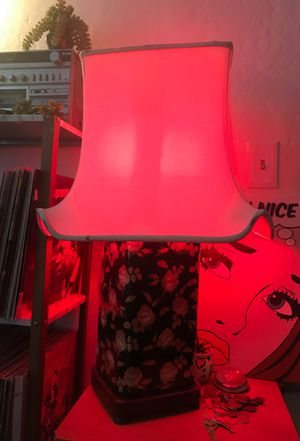Flower lamp with red light if you want ! for Sale in CA, US