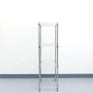 Mind Reader Heavy Duty 4 Shelf Metal Storage Shelving Unit, Chrome Description:Frame Material: Metal Product Type: Shelving Units Number Of Shelves: for Sale in Houston, TX