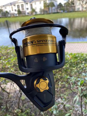 "Penn SpinFisher V6500 + Dawa 8"" (two parts) Rod combo **LIKE NEW** for Sale in Coconut Creek, FL"