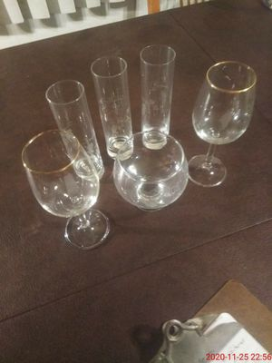 6 - Crystal Glasses for Sale in Downey, CA