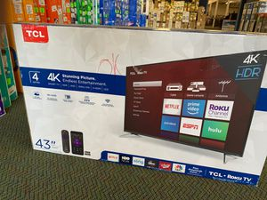 "Brand New TCL ROKU 43"" Ultra HD 4K Smart Tv! for Sale in Lawndale, CA"
