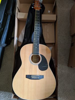 Acoustic Guitar Starter Pack for Dummies & black guitar stand for Sale in Lanham, MD