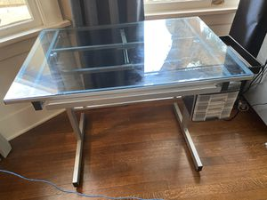 Student desk transforms into drafting table glass for Sale in La Verne, CA