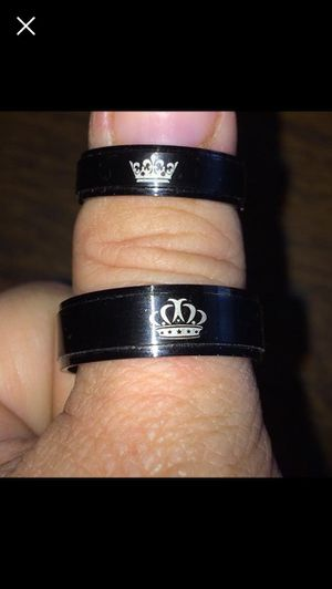 Size 12 & size 8 his and her wedding bands for Sale in Belmond, IA