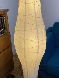 IKEA White Paper Lantern-style Floor Lamp for Sale in Brooklyn,  NY