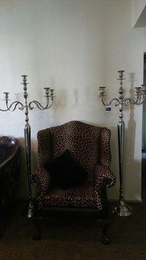 Big metal candelabras. for Sale in Mesquite, TX