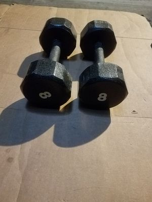 OCTAGON HEAD DUMBBELLS for Sale in Chicago, IL