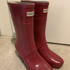 Hunter Wedge Heel Rain Boots, Size 7 for Sale in Bellevue, WA