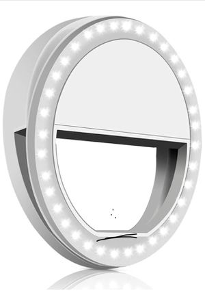 Whellen Selfie Ring Light with 36 LED for Phone/Tablet/iPad Camera [UL Certified] Portable Clip-on Fill Round Shape Light-White for Sale in Bridgeport, CT