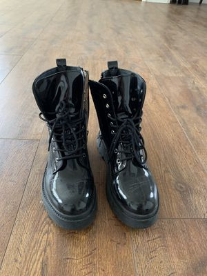 Black patent leather boots (size 8) for Sale in Falls Church, VA