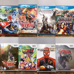 Nintendo Wii/ Nintendo Wii U Games, Lots of Great Titles (Zelda, Mario Kart 8, Dragonball, Rayman, Lego) 🕹❄️🎮 for Sale in Pleasant Hill, CA