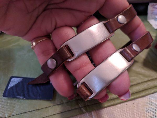 $20 American Eagle leather couples bracelets