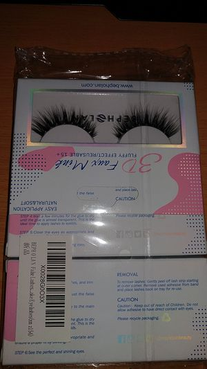 3 Pairs False Eyelashes Synthetic Fiber Material| 3D Mink Lashes| Natural Round Look| Soft & Lightweight| 100% Handmade &Cruelty-Free for Sale in Sacramento, CA