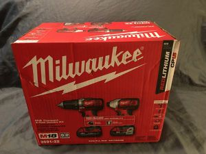 Milawakee Driver/Impact set w/ (2) CP3.0 Batt (New) for Sale in Fort Wayne, IN