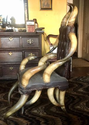 ANTIQUE LATE 1800's HORN CHAIR. for Sale in New York, NY