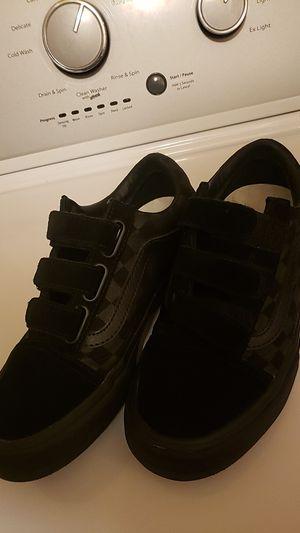 VANS black on black velcro for Sale in Vista, CA
