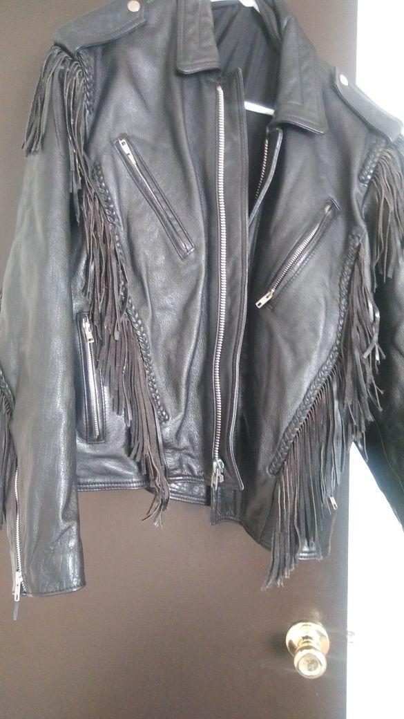 Leather jacket size med