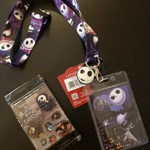 New, Nightmare Before Christmas Landyard and Trading Cards for Sale in Seattle, WA