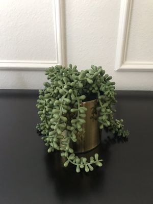 Artificial succulent in gold pot for Sale in Plano, TX