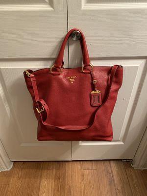 Authentic Prada Red Vitello Leather Tote bag for Sale in Houston, TX