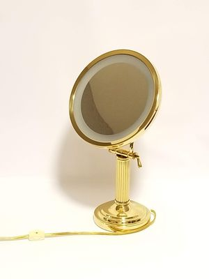 Vintage Cane And Reed Countertop Makeup Vanity Mirror W/ Light for Sale in Riverside, CA