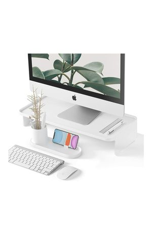 Monitor Riser with phone and pen organiser - White for Sale in Boca Raton, FL