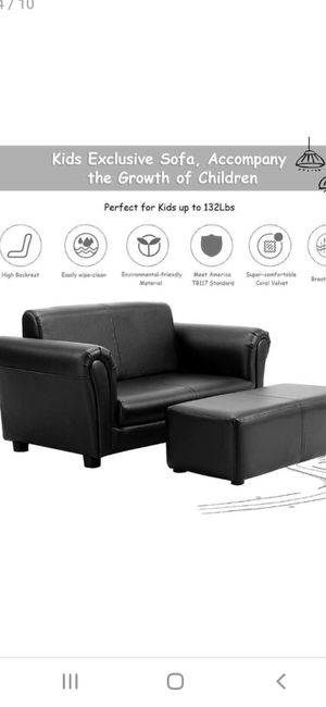 Kids Double Sofa with Ottoman for Sale in Bakersfield, CA