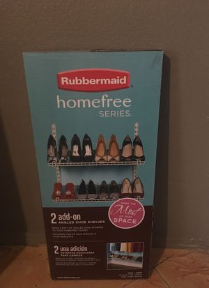 Rubbermaid angled shoe shelves add on for Sale in Phoenix, AZ